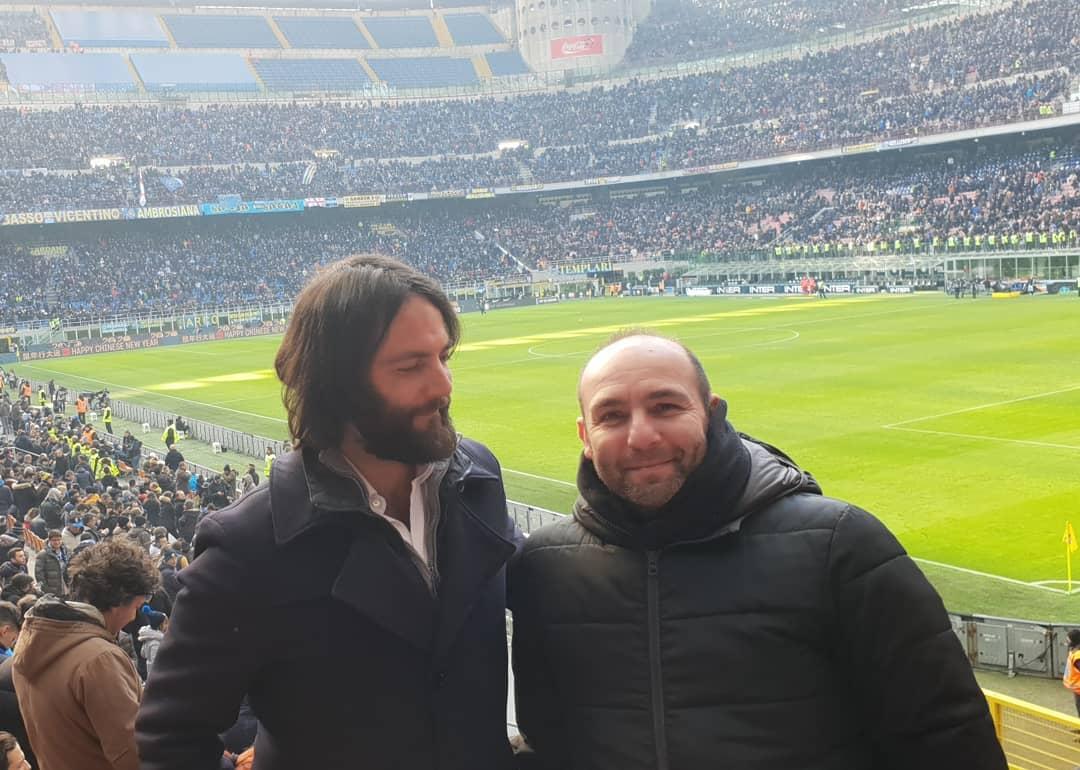 Plan A - Kanzlei für Strafrecht - Strafverteidiger Dr. Ingo Bott mit Rechtsanwaltskollege Antonio Aglieri aus der Kanzlei Paglia in San Siro im Stadion