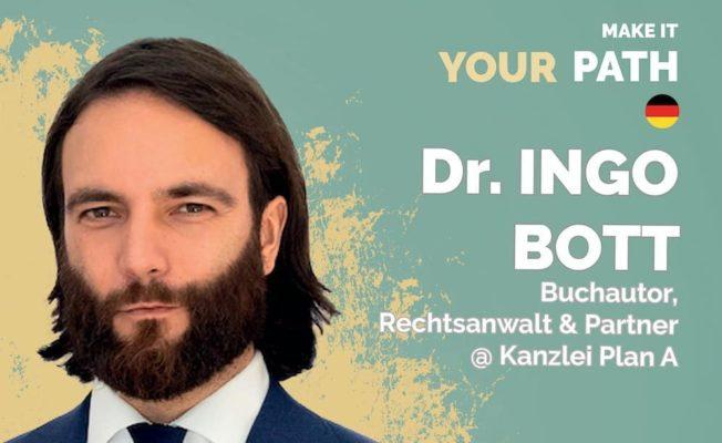 Rechtsanwalt Dr. Ingo Bott von der Kanzlei Plan A - Kanzlei für Strafrecht im Interview mit Motivaationscoach Gina Friedrich