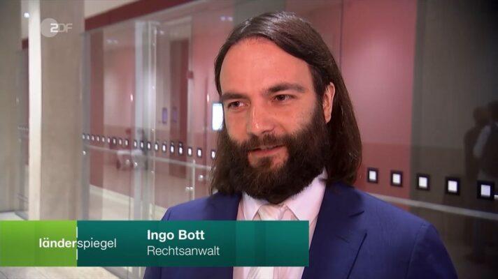 Rechtsanwalt Dr. Ingo Bott (Kanzlei Plan A) zum Thema Corona-Bussgelder gegen Unternehmen im ZDF Länderspiegel
